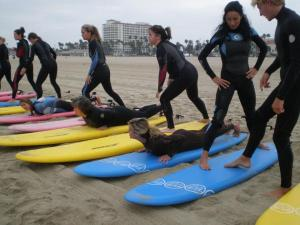 """Surf drill:  Practicing """"pop ups"""""""