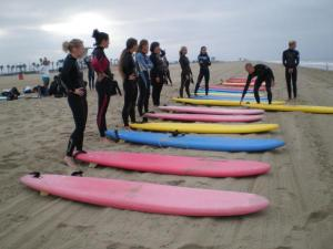 Same Surfers on the Beach