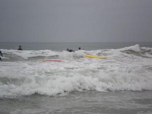 Waves and (sort of) surfers