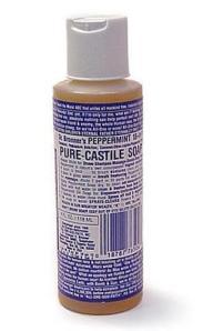 Dr. Bronner's Castile Soap:  Peppermint