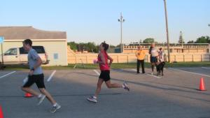 Crossing the finish line (well....about 3 seconds later)